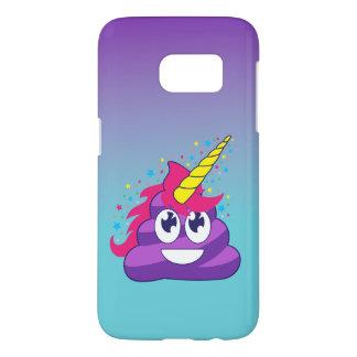 Blue & Purple Ombre Unicorn Poo Emoji Samsung Galaxy S7 Case