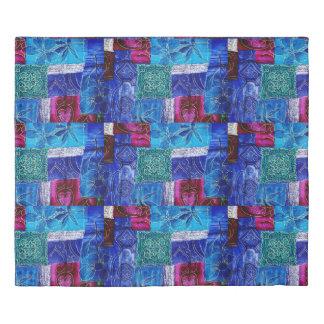 Blue Purple Patchwork Duvet Cover