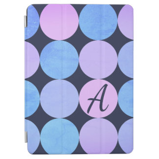Blue Purple & Pink Circles Monogram iPad Pro Cover