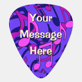 Blue Purple Pink Musical Pattern Music Personalize Guitar Pick