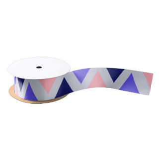 Blue/Purple/Pink Ribbon Satin Ribbon