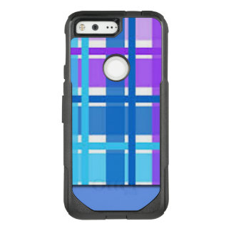 Blue & Purple Plaid Design OtterBox Commuter Google Pixel Case