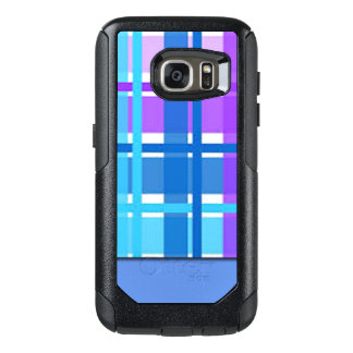 Blue & Purple Plaid Design OtterBox Samsung Galaxy S7 Case