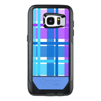 Blue & Purple Plaid Design OtterBox Samsung Galaxy S7 Edge Case
