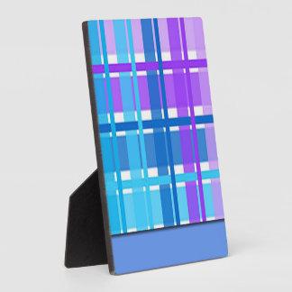 Blue & Purple Plaid Design Plaque
