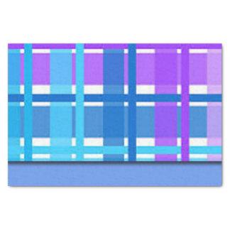Blue & Purple Plaid Design Tissue Paper