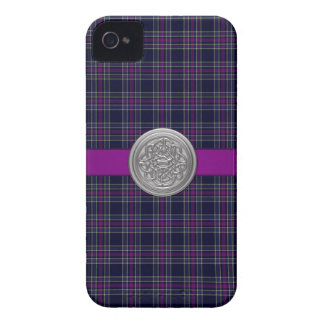 Blue & Purple Spirit of Scotland CMDS Tartan Plaid iPhone 4 Case-Mate Cases