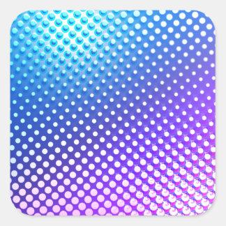 Blue Purple Square Sticker