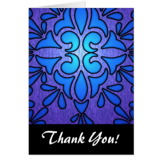 Blue Purple Stainded Glass Style Design Card