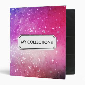 Blue purple starry galaxy sky binder