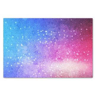 Blue purple starry galaxy sky tissue paper