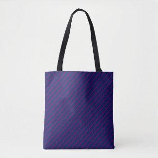 Blue & Purple Stripes All-Over-Print Tote Bag