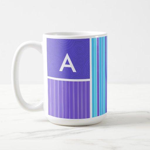 Blue & Purple Stripes Mugs