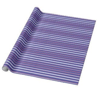Blue & Purple Stripes Wrapping Paper