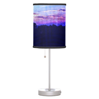 Blue Purple Summertime sunset in the country Table Lamp