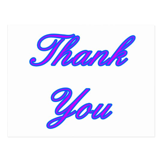 Blue Purple Thank You Design The MUSEUM Zazzle Gif Postcard