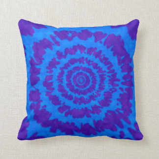 Blue & Purple Tie Dye Print Pillow