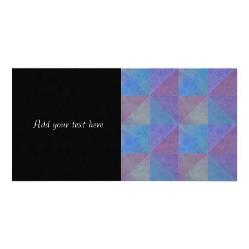 Blue Purple Triangles Geometric Pattern