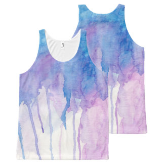 Blue & Purple Watercolor | Tank Top