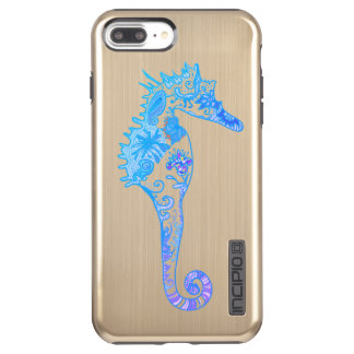 Blue Purple Whimsical Seahorse Case