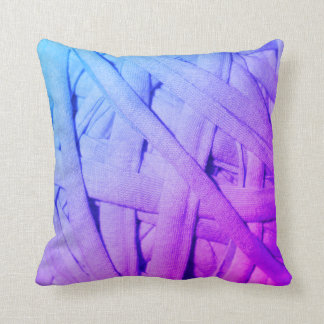 Blue Purple Yarn Details Texture Cushion Pillow