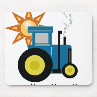 Blue Putt Putt Tractor Mouse Pad