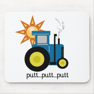 Blue Putt Putt Tractor Tshirts and Gifts Mouse Pad