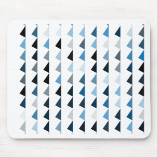 blue pyramid pattern 04 mouse pad