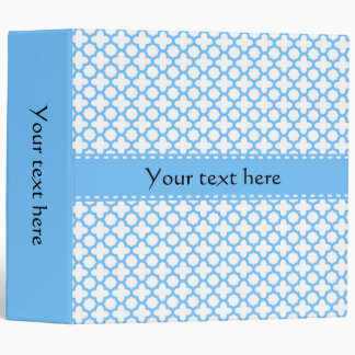 Blue Quatrefoil Pattern Binder