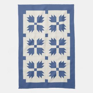 Blue Quilt Print Kitchen Towel