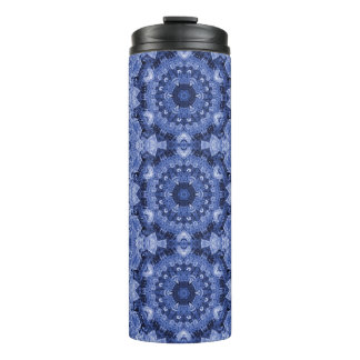 Blue Quilt Thermal Tumbler