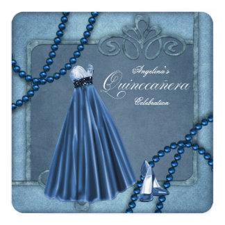 Blue Quinceanera Custom Invitation Cards