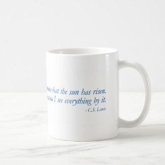 Blue Quotes - Christianity - C.S. Lewis - Mug