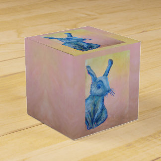 blue rabbit gift box favor boxes