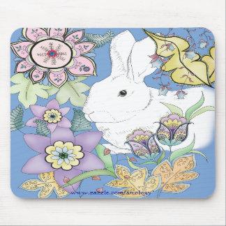 Blue Rabbit Mousepad