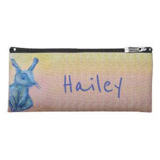blue rabbit pencil case