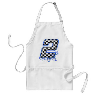 blue racing number 2 standard apron