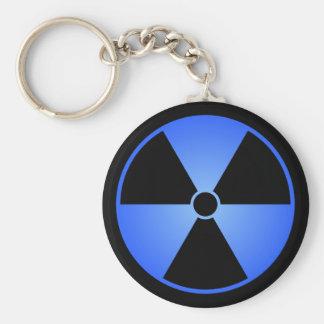 Blue Radiation Symbol Keychain