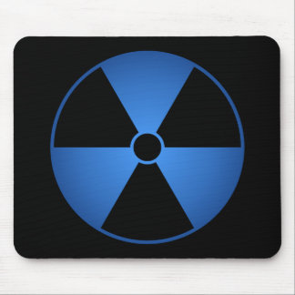 Blue Radiation Symbol Mousepad