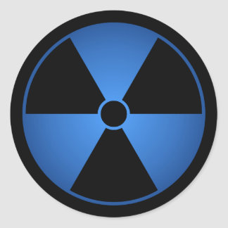 Blue Radiation Symbol Sticker
