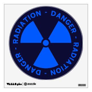 Blue Radiation Warning Sign Wall Sticker