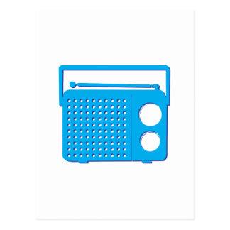 Blue Radio Post Card