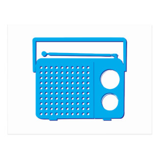 Blue Radio Post Cards