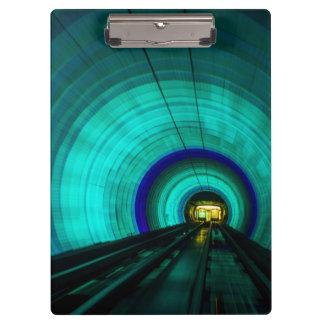 Blue railroad tunnel, Singapore Clipboard