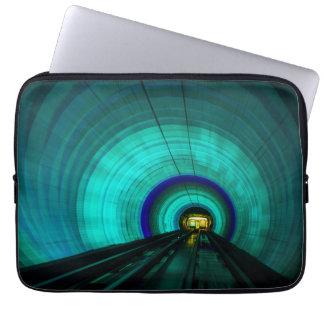 Blue railroad tunnel, Singapore Laptop Computer Sleeve