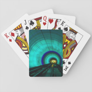 Blue railroad tunnel, Singapore Playing Cards
