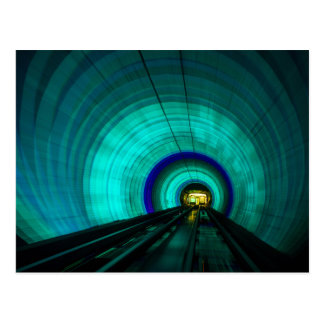 Blue railroad tunnel, Singapore Postcard
