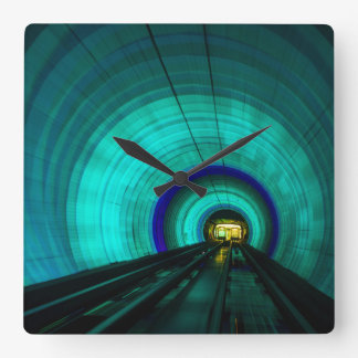 Blue railroad tunnel, Singapore Wallclocks