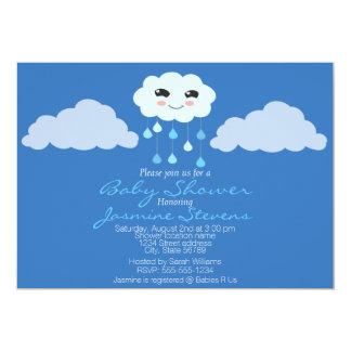 Blue Rain Cloud Baby Shower Card