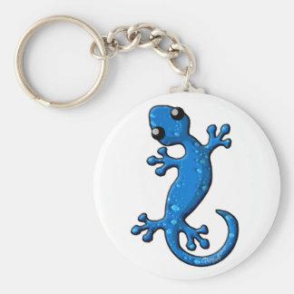 Blue Rain Gecko Lizard Keychain